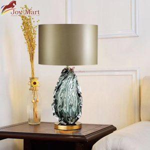 đèn bàn phòng khách thân thủy tinh mb2047