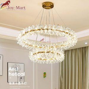 đèn chùm nguyệt quế trang trí phòng khách mch8890-800+400