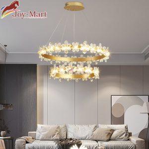 đèn thả trần 2 vòng hoa mận mth8891-800+400
