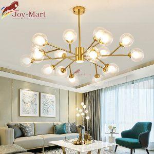 đèn thả trần decor trang trí phòng khách mạ vàng mth3198-12