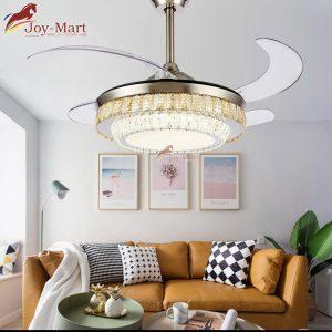 quạt trần kèm chùm đèn trang trí đẹp số 1 mqt2171