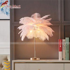 hình ảnh thực tế đèn bàn lông vũ mb1813