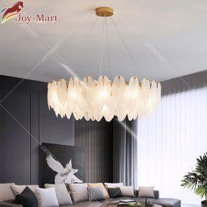 đèn chùm lông vũ thả trần phòng khách mch6688-750